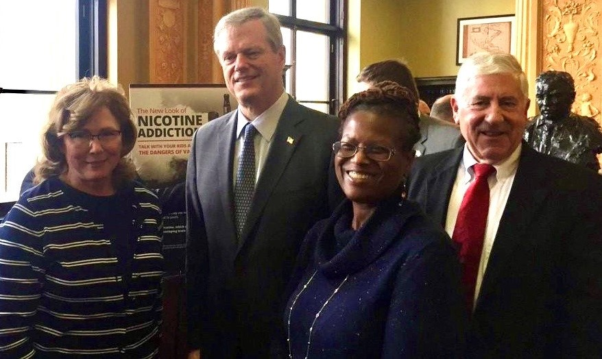 Dr. Maryanne Bombaugh and Gov. Charlie Baker