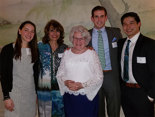 2016 Scholarhip Awards- Christina Matulis, Mawya Shocair, Ruth Lieberfarb, Steven Krueger and Ryan Chin