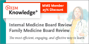 NEJM Knowledge + MMS Member Discount 25%