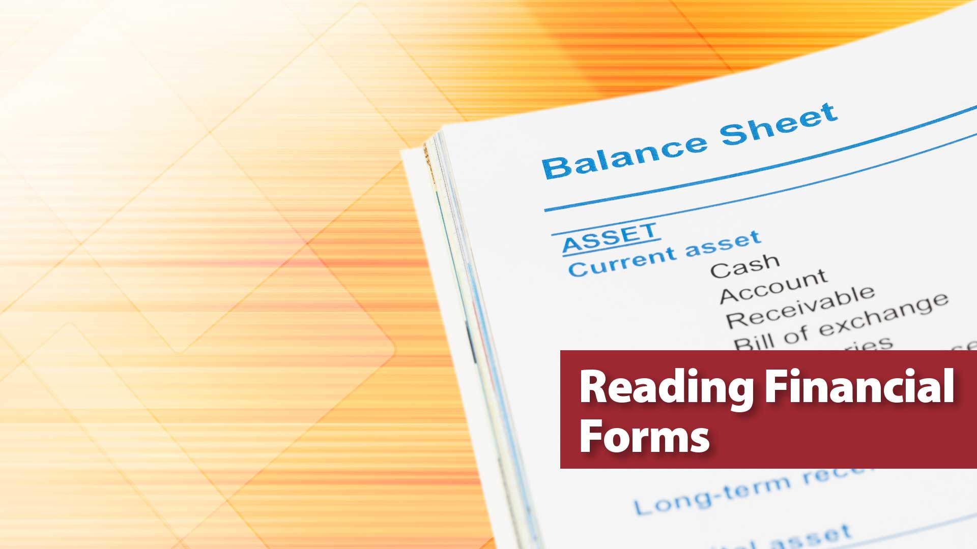 Reading Financial Forms